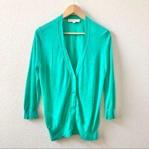 LOFT cardigan Sweater Women's Size large Green